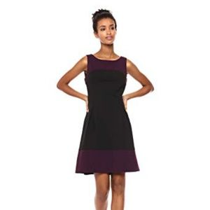 Tommy Hilfiger Fit and Flare Two Color Dress
